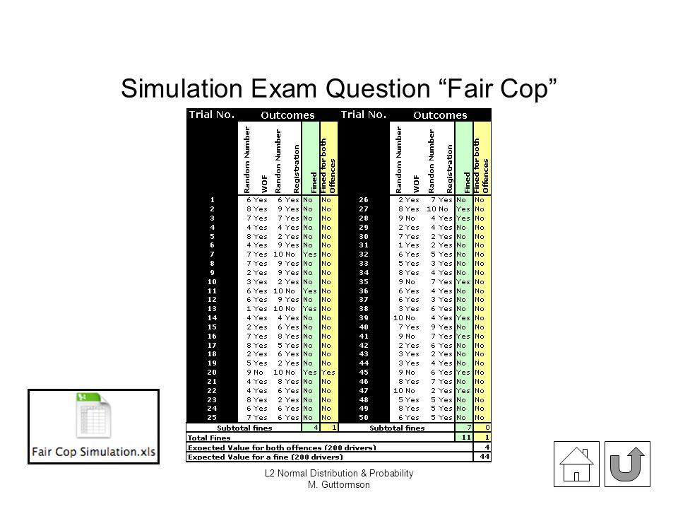 Simulation Exam Question Fair Cop