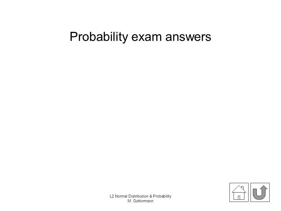 Probability exam answers