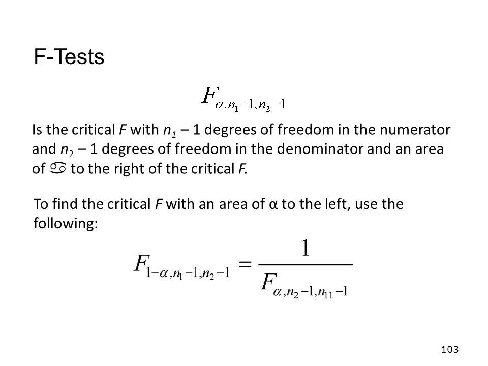 F-Tests