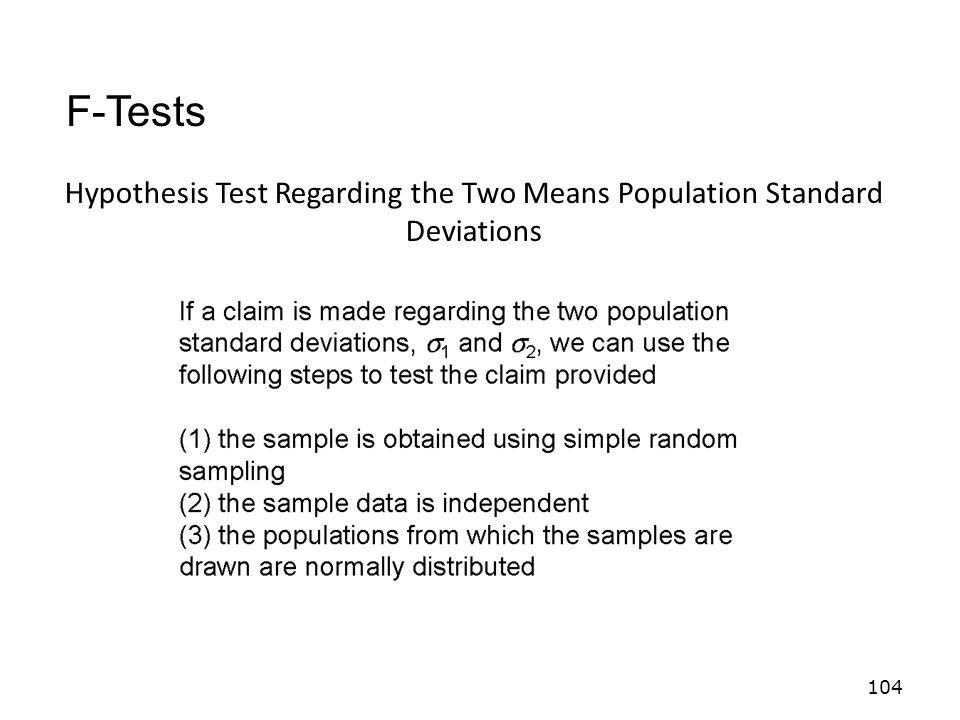 Hypothesis Test Regarding the Two Means Population Standard Deviations