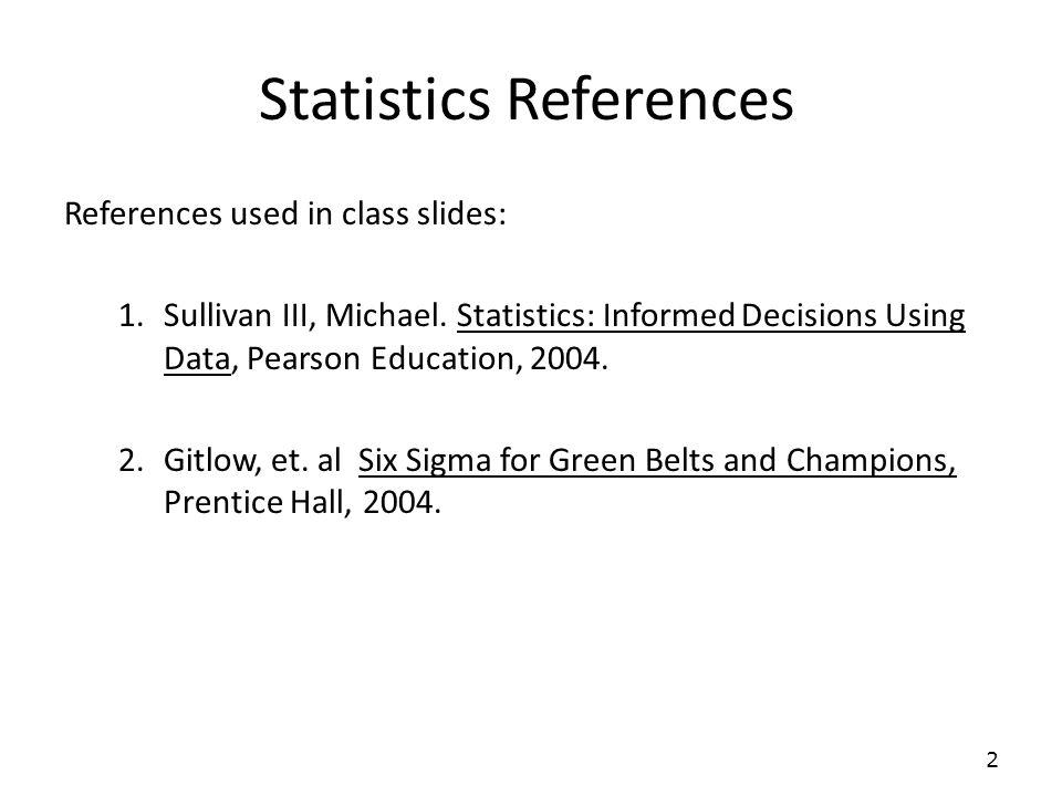 Statistics References