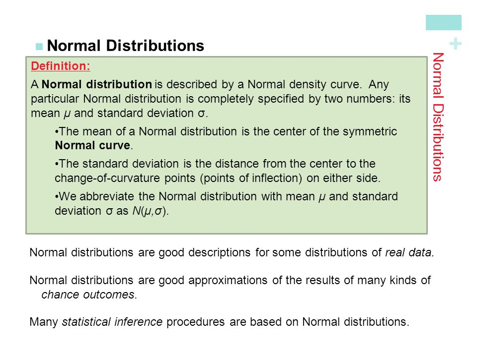 Normal Distributions Normal Distributions Definition: