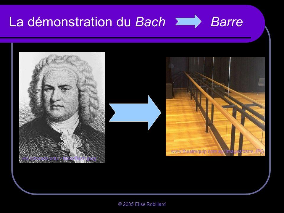 La démonstration du Bach Barre
