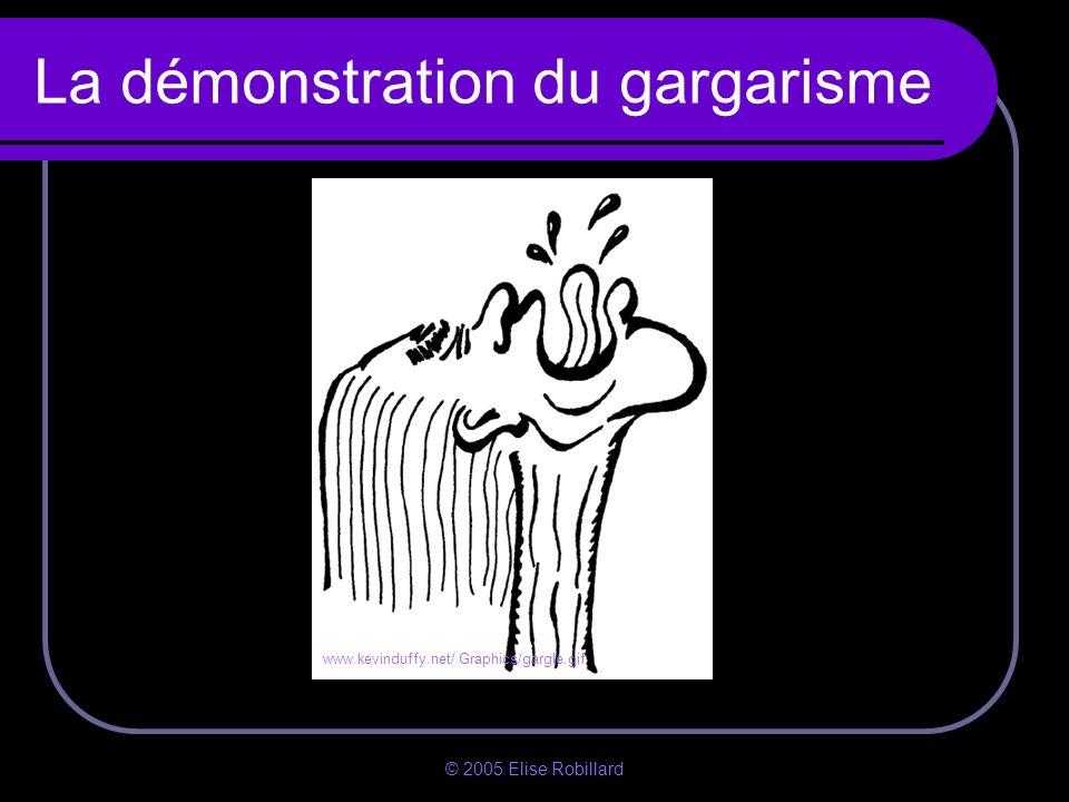 La démonstration du gargarisme