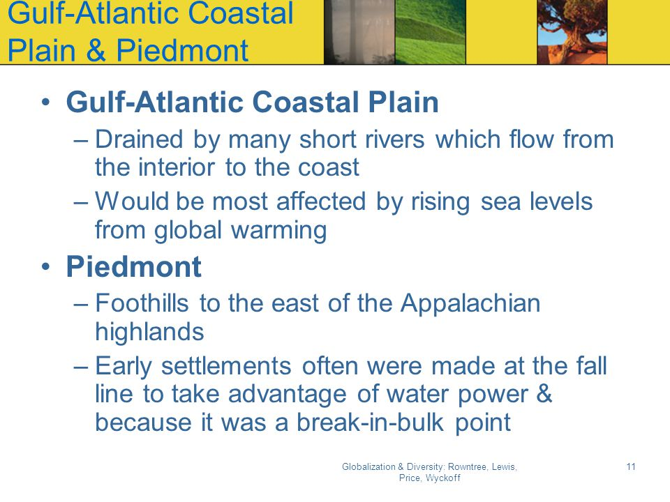 Gulf-Atlantic Coastal Plain & Piedmont