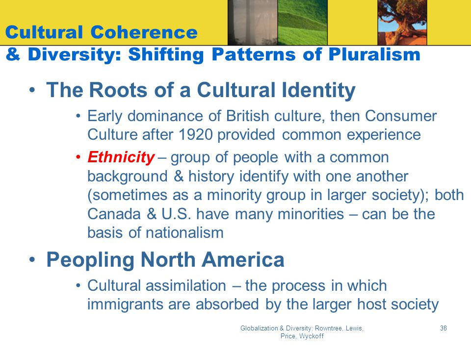 Cultural Coherence & Diversity: Shifting Patterns of Pluralism