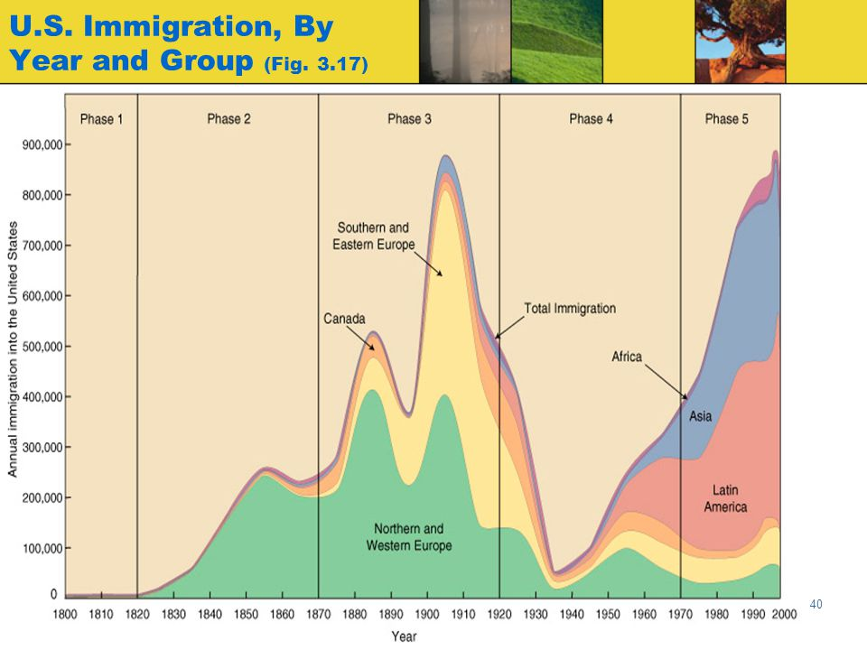 U.S. Immigration, By Year and Group (Fig. 3.17)