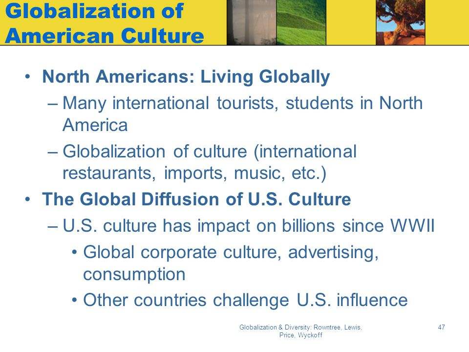 Globalization of American Culture