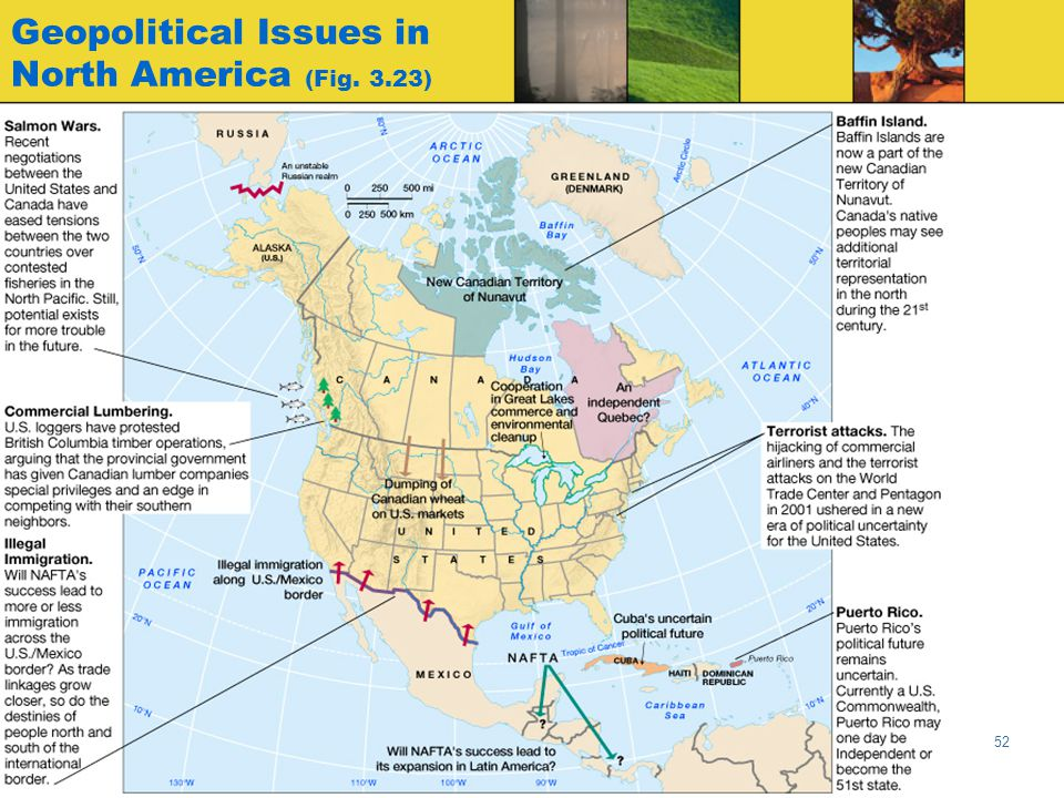 Geopolitical Issues in North America (Fig. 3.23)