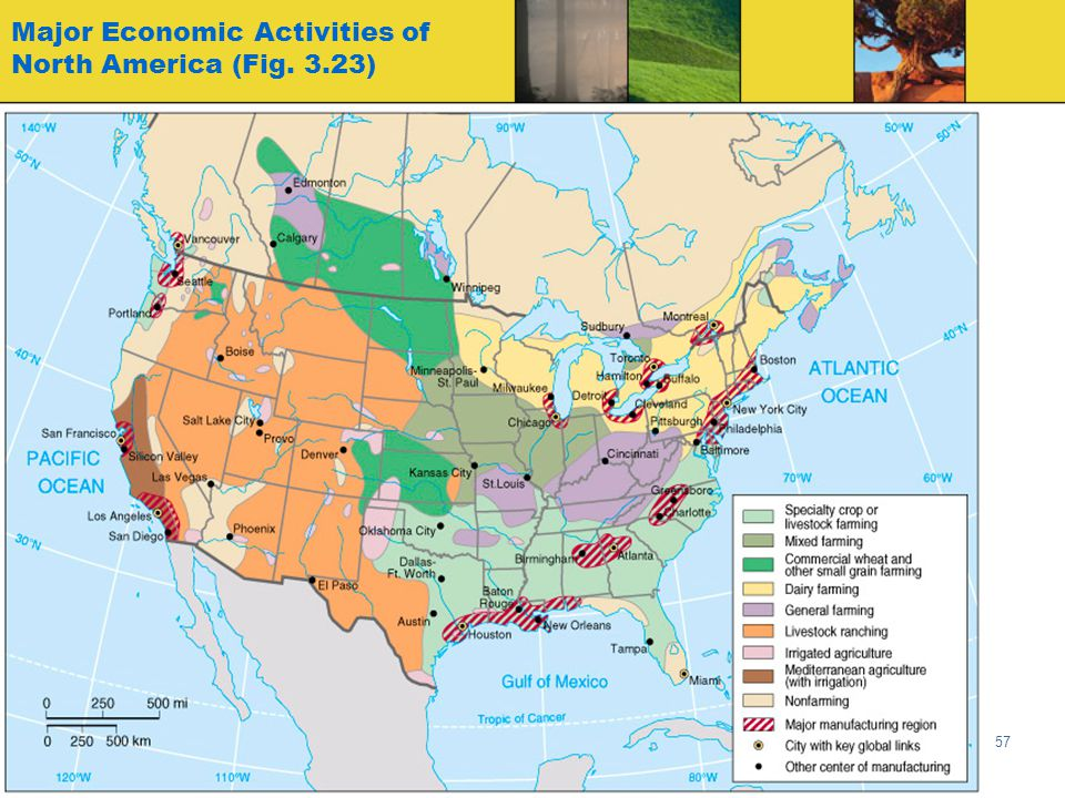 Major Economic Activities of North America (Fig. 3.23)