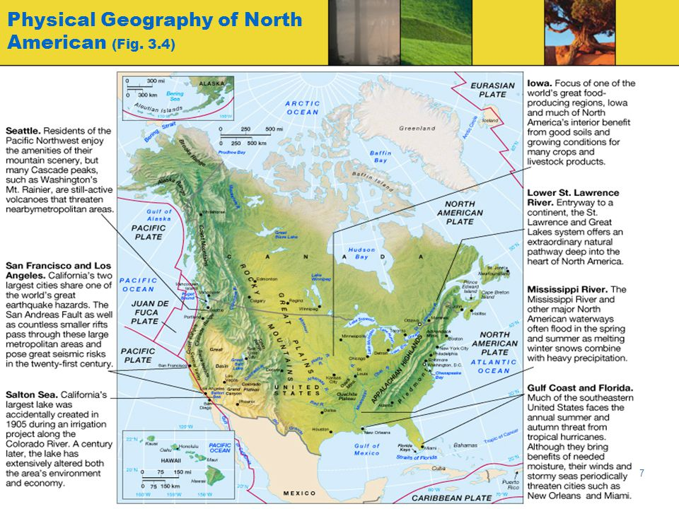 Physical Geography of North American (Fig. 3.4)