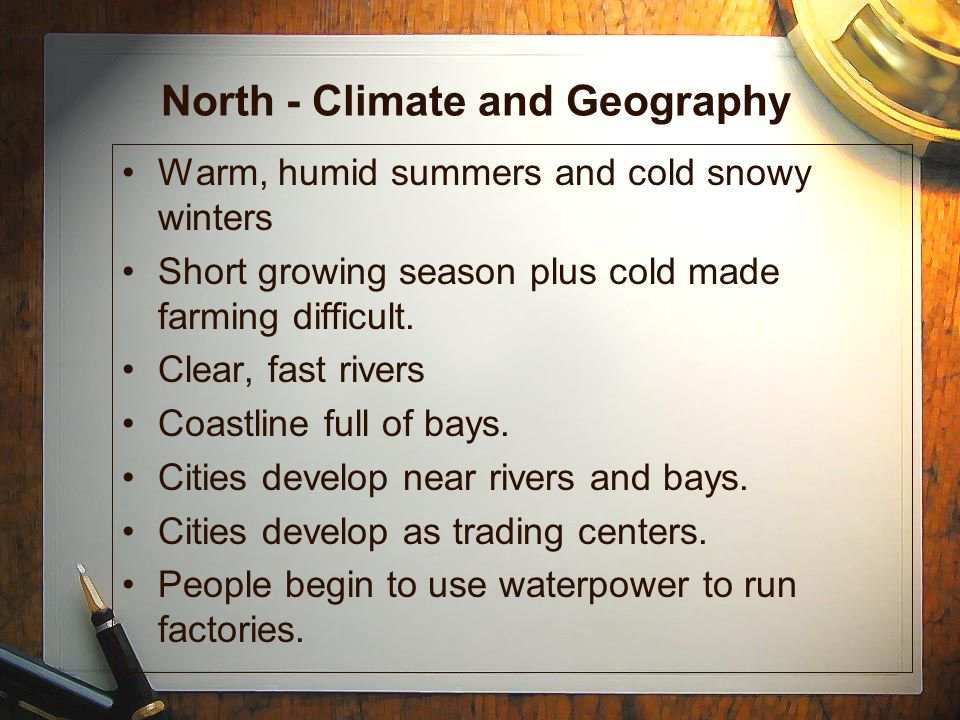 North - Climate and Geography
