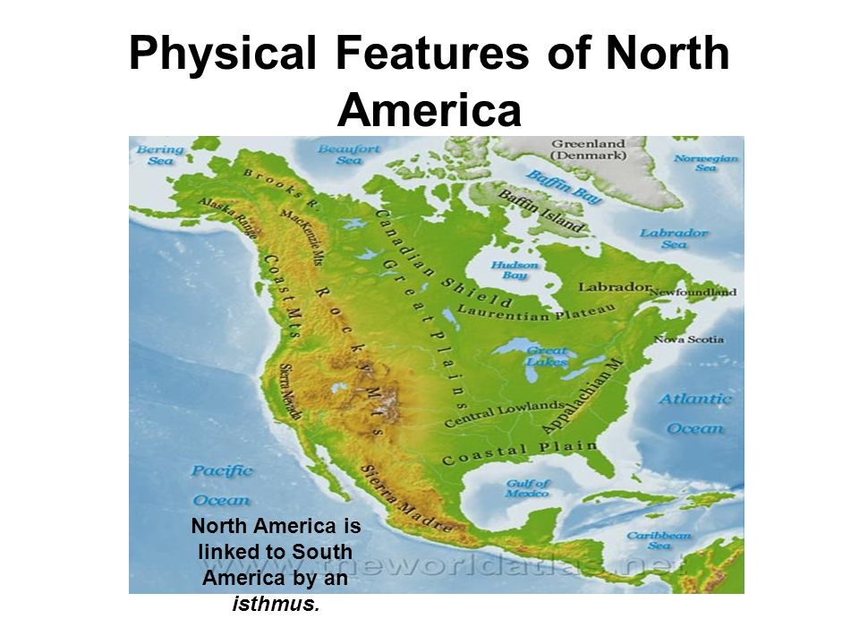 Map Of America Physical Features physical features of north