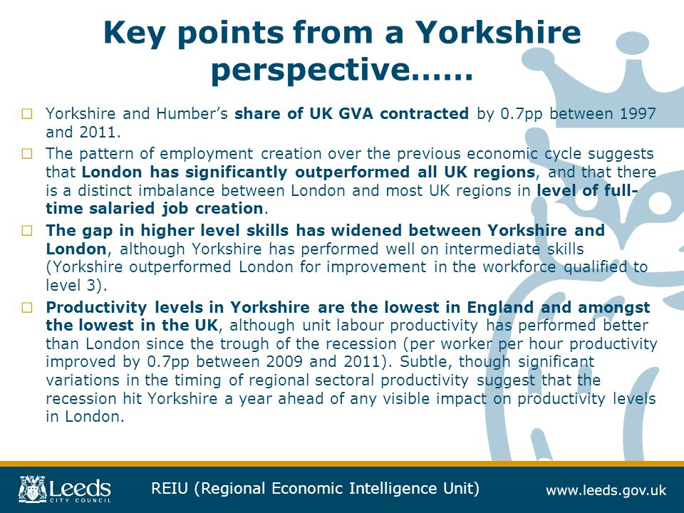 Key points from a Yorkshire perspective……