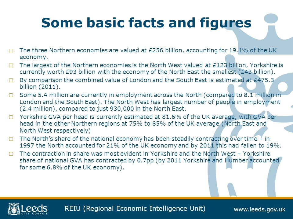 Some basic facts and figures
