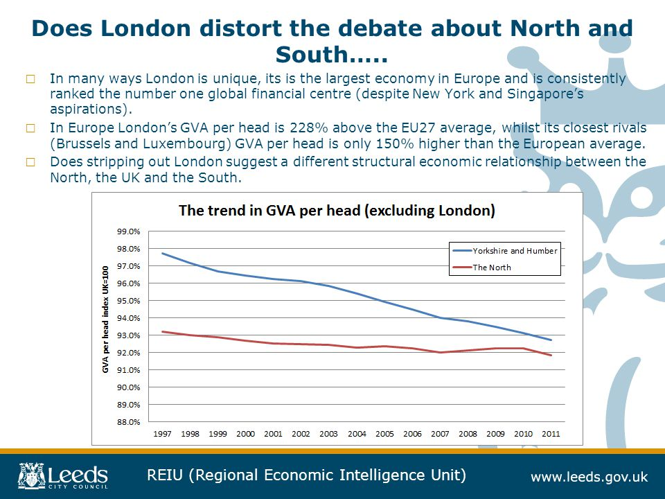 Does London distort the debate about North and South…..