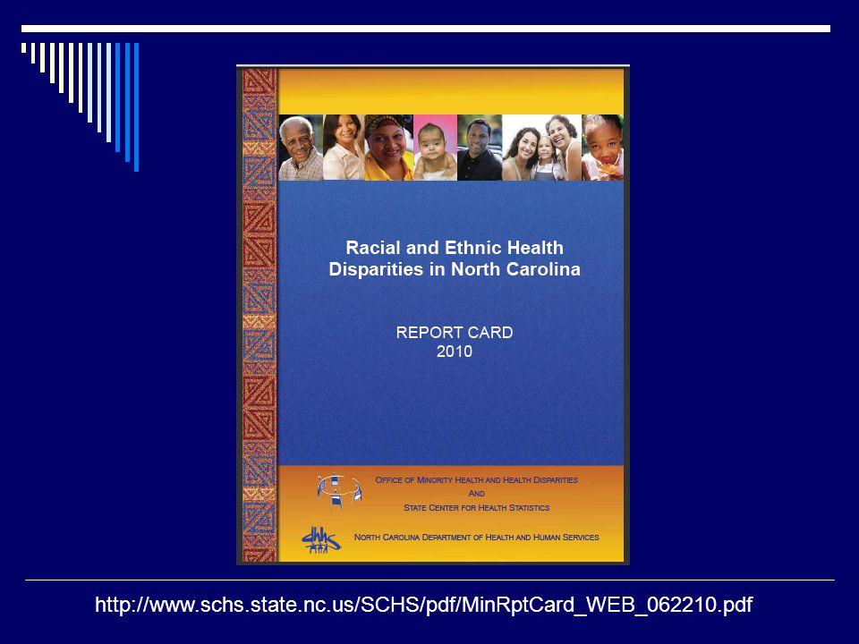 http://www.schs.state.nc.us/SCHS/pdf/MinRptCard_WEB_062210.pdf