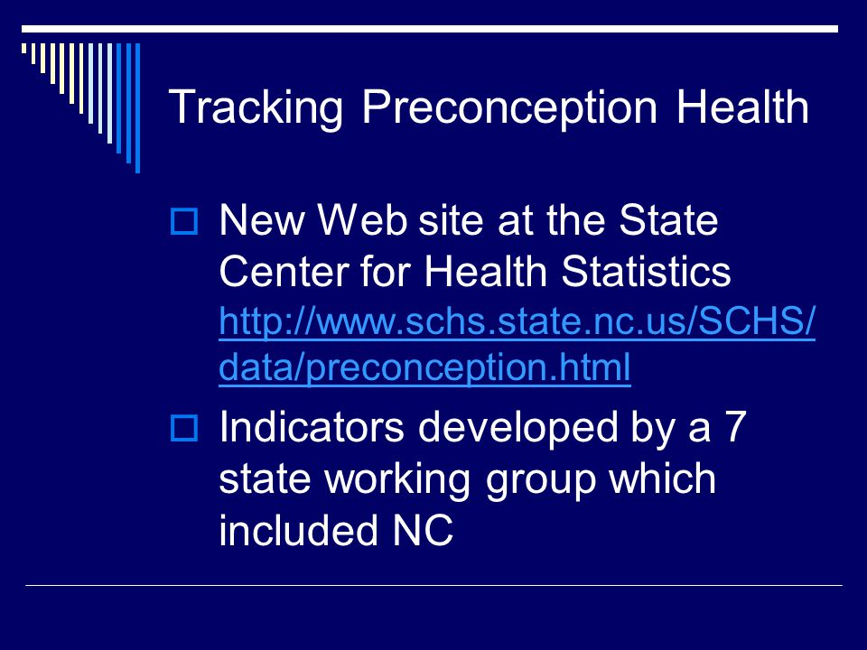 Tracking Preconception Health