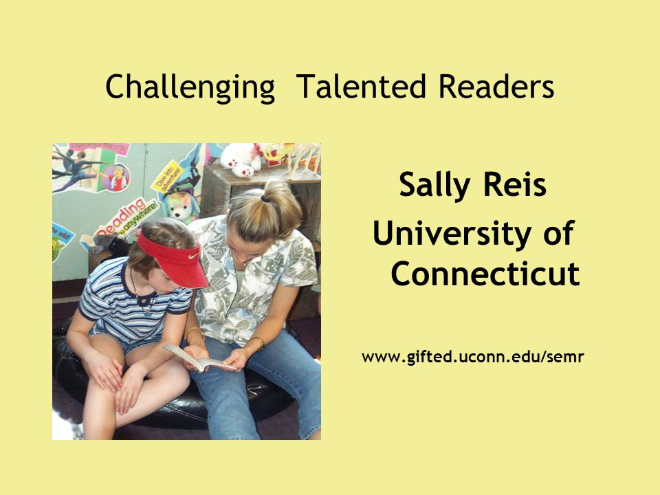 Challenging Talented Readers