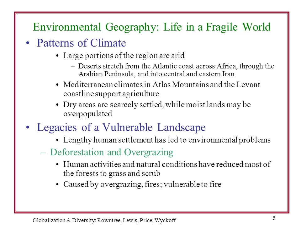 Environmental Geography: Life in a Fragile World