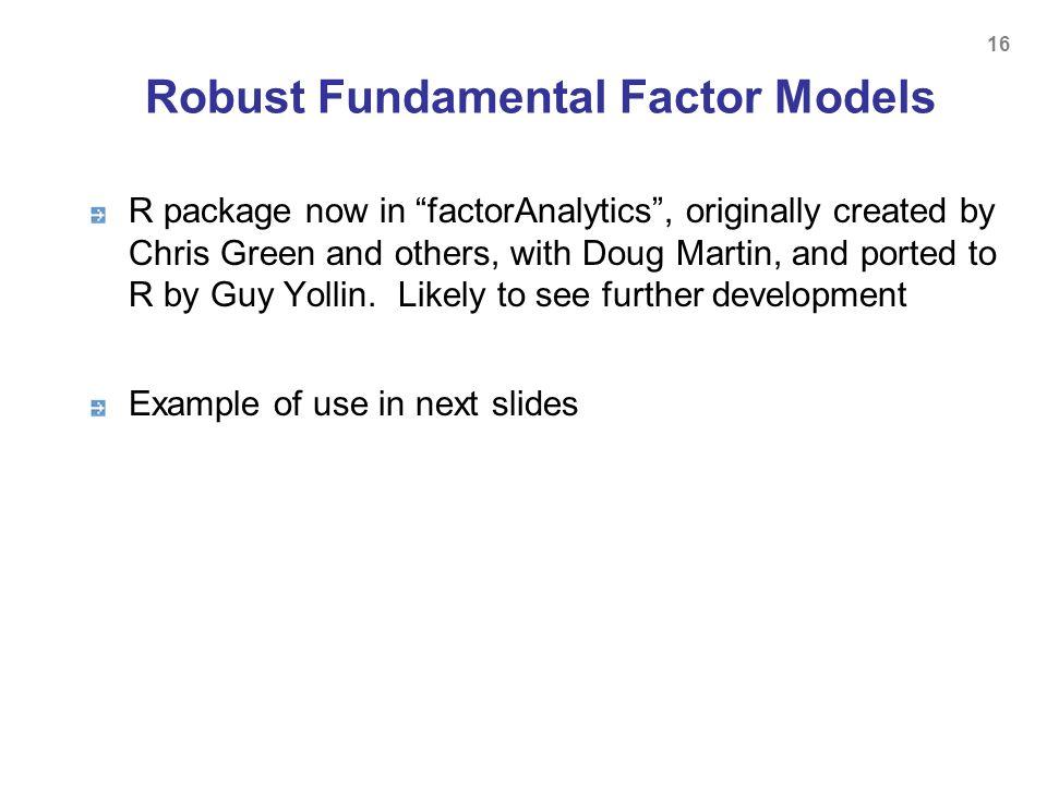 Robust Fundamental Factor Models