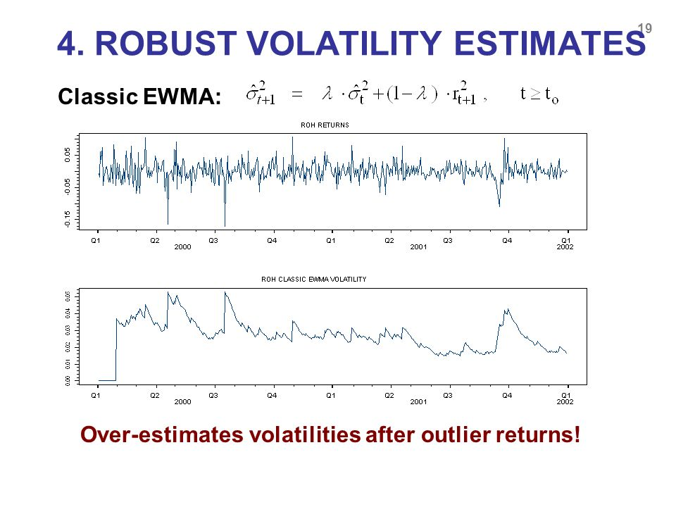 4. ROBUST VOLATILITY ESTIMATES