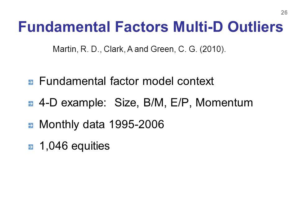 Fundamental Factors Multi-D Outliers
