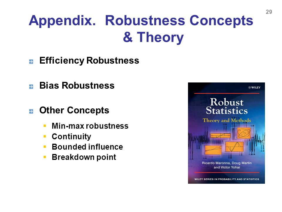 Appendix. Robustness Concepts & Theory