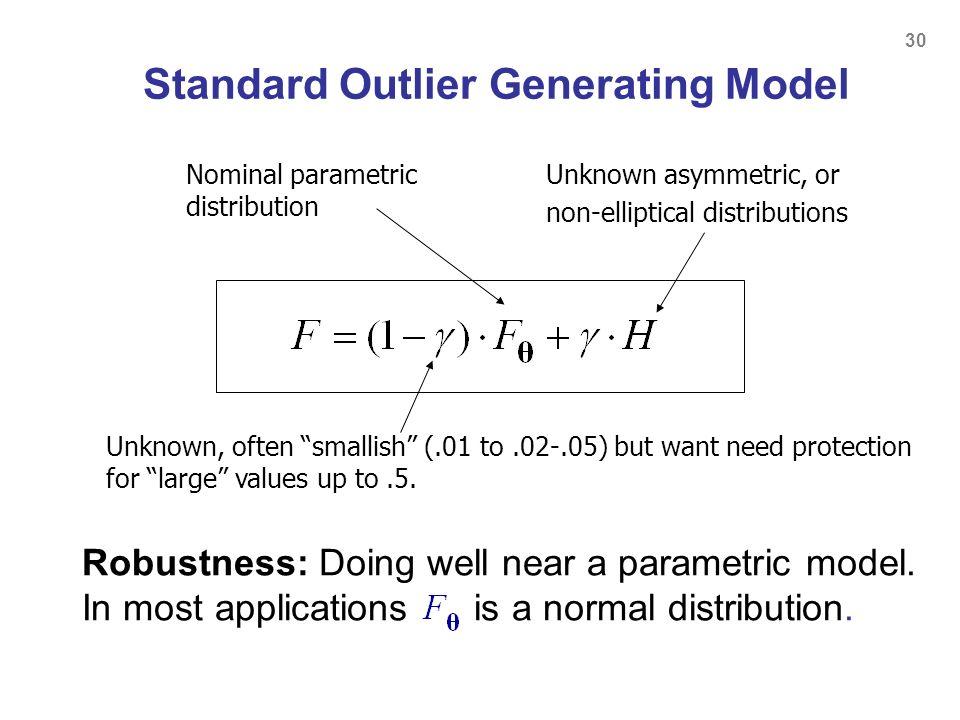 Standard Outlier Generating Model