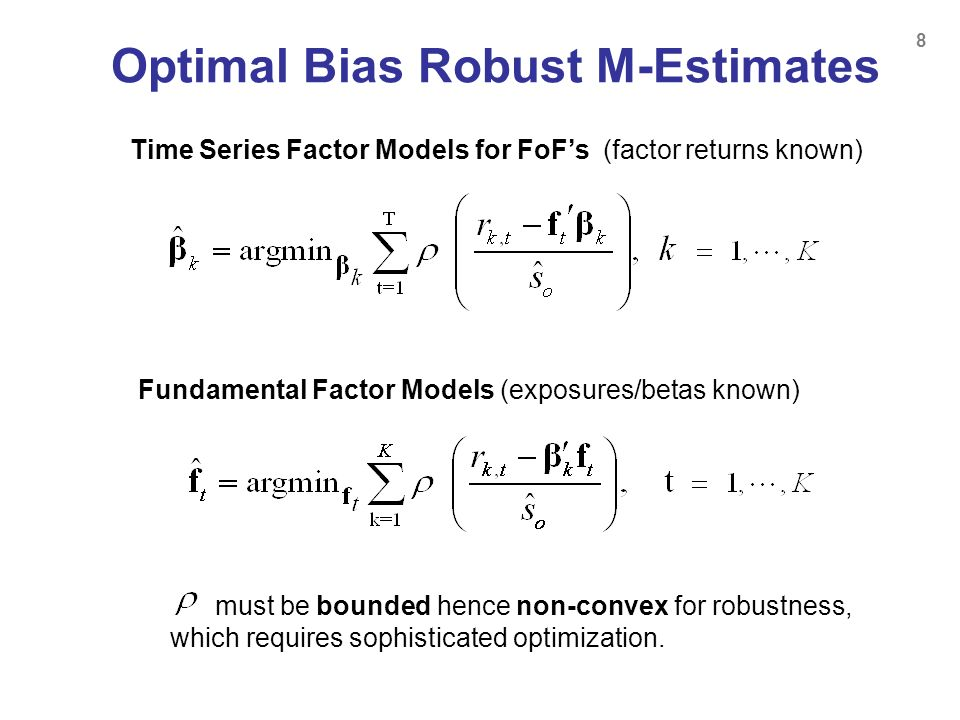 Optimal Bias Robust M-Estimates