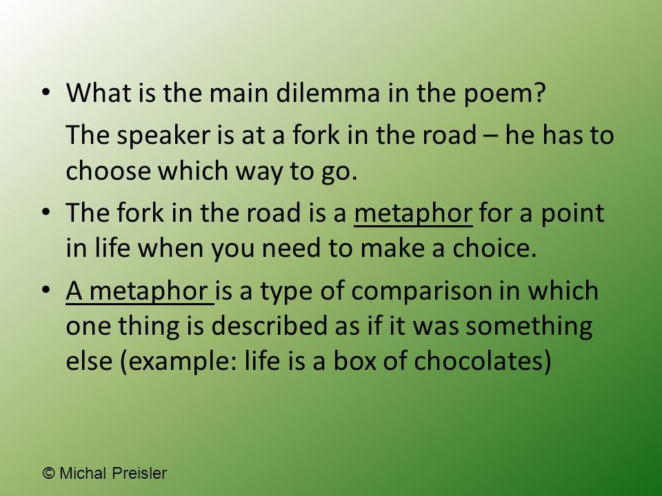 What is the main dilemma in the poem