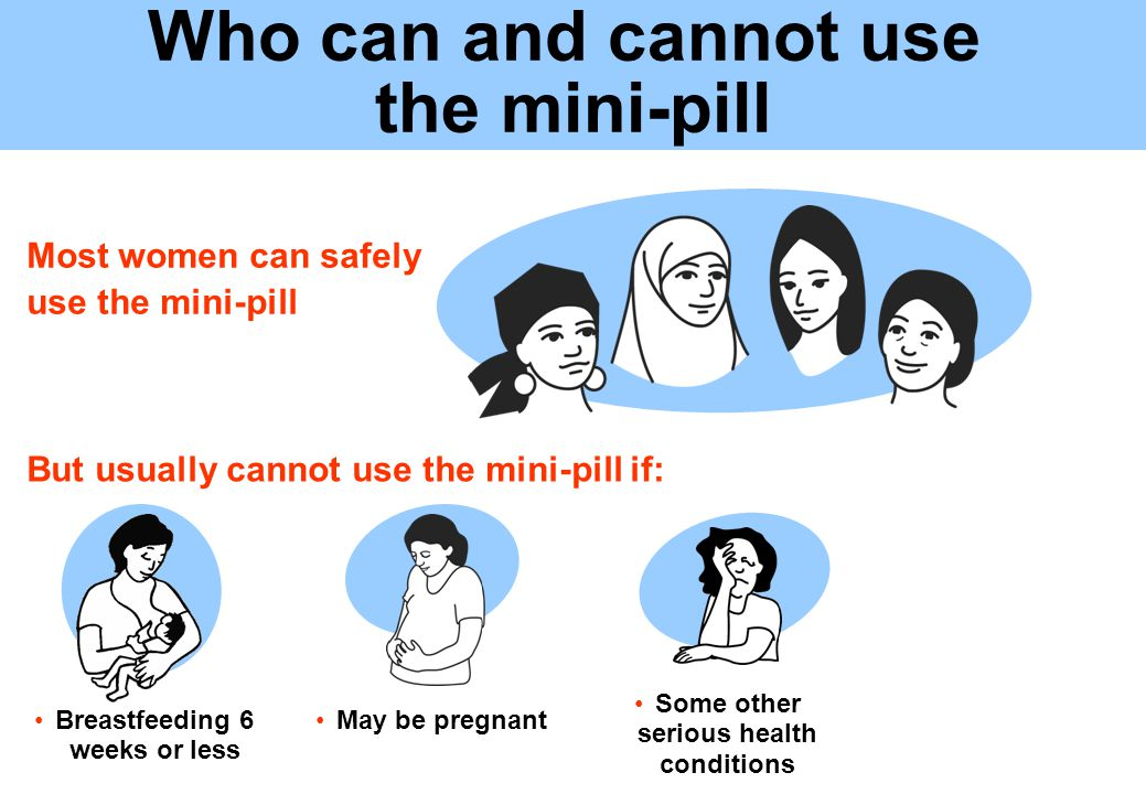 If client wants to know more about the mini-pill, go to ...