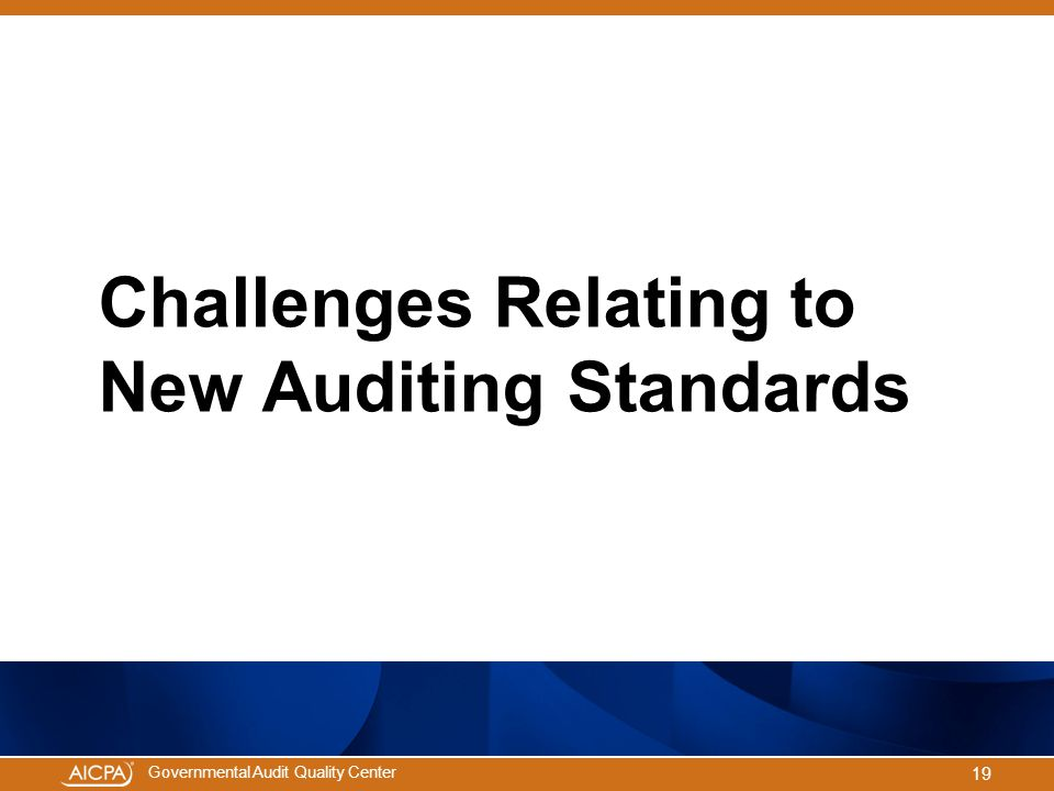 Challenges Relating to New Auditing Standards