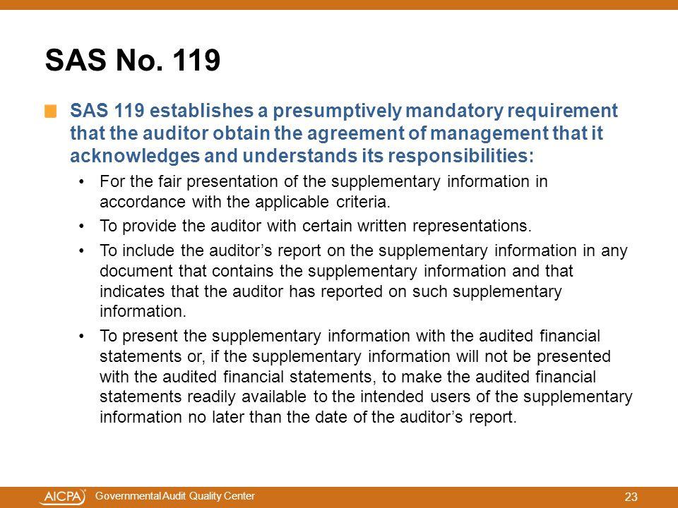 SAS No. 119