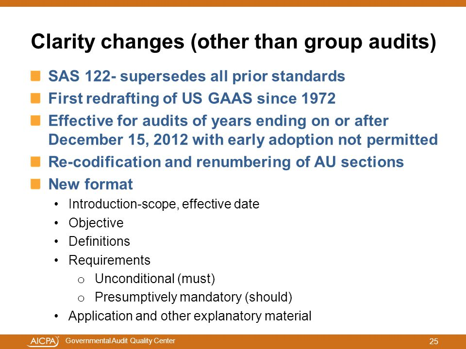 Clarity changes (other than group audits)