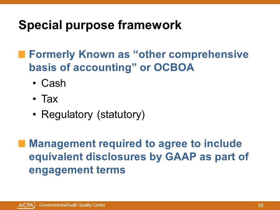 Special purpose framework