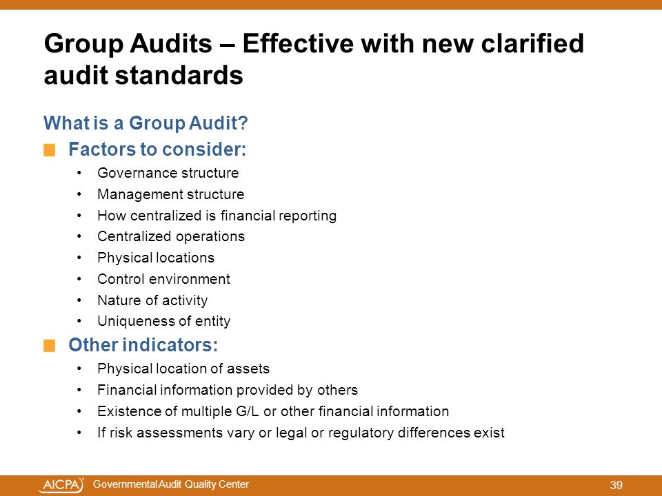 Group Audits – Effective with new clarified audit standards