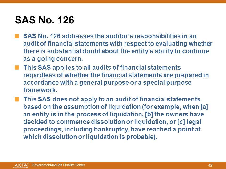 SAS No. 126