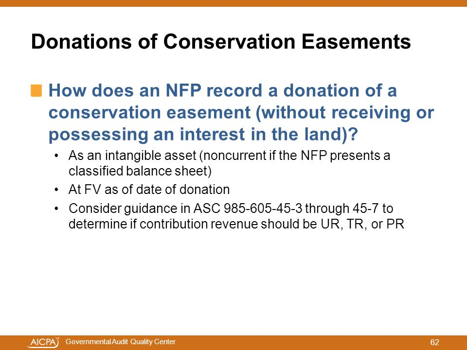 Donations of Conservation Easements
