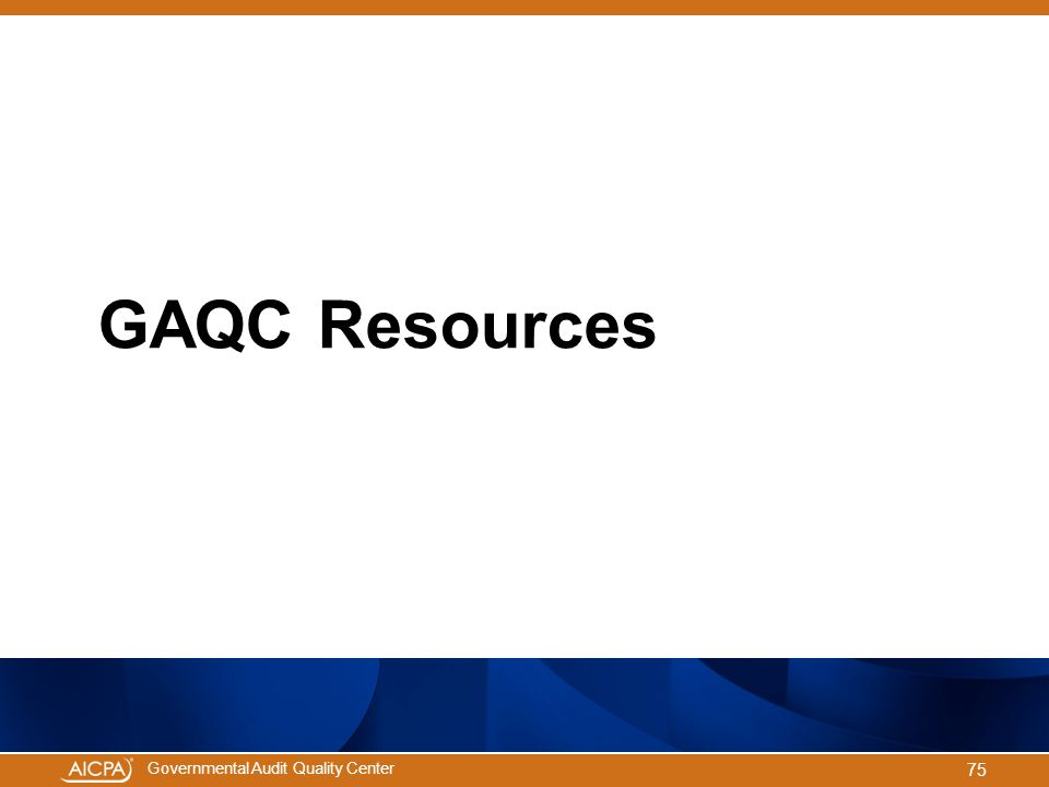 GAQC Resources