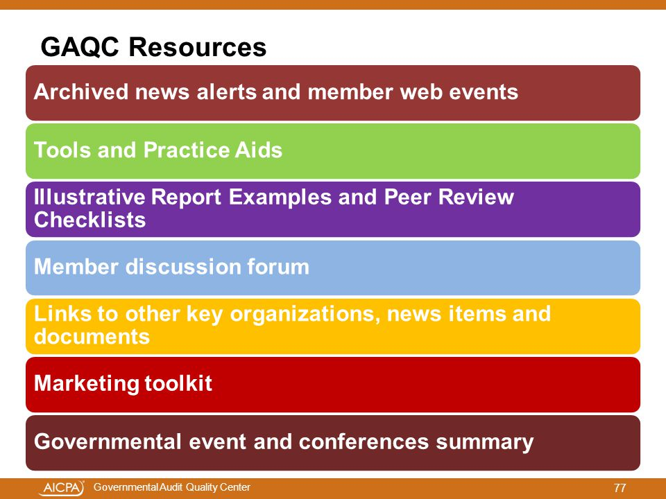 GAQC Resources Archived news alerts and member web events