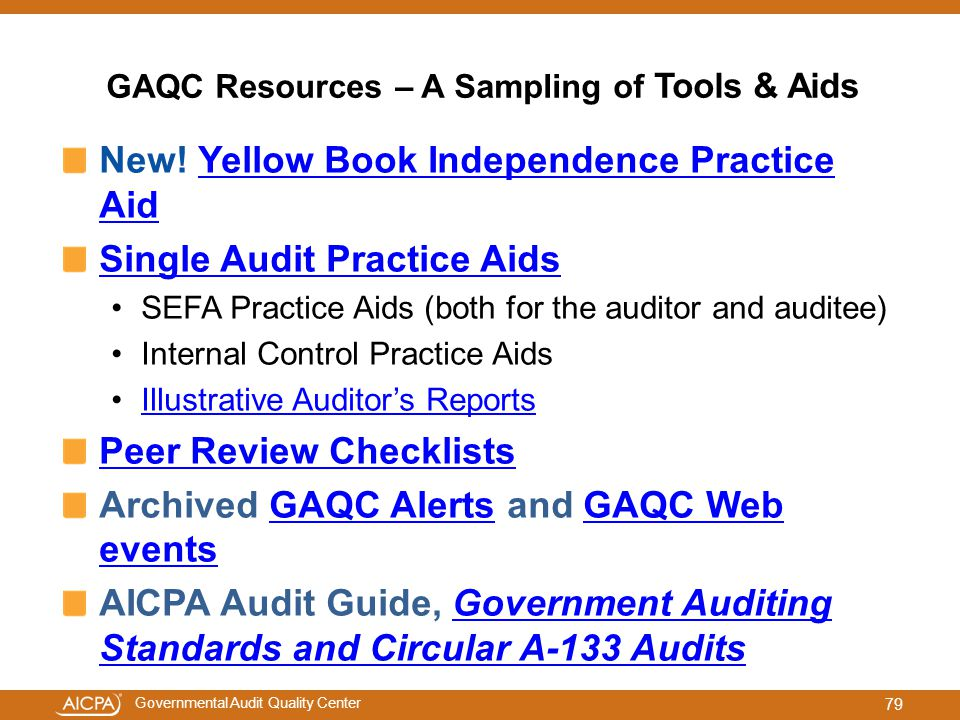 GAQC Resources – A Sampling of Tools & Aids