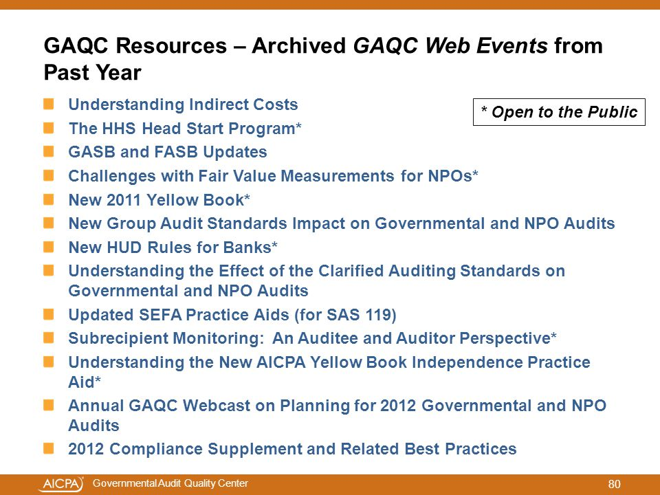 GAQC Resources – Archived GAQC Web Events from Past Year