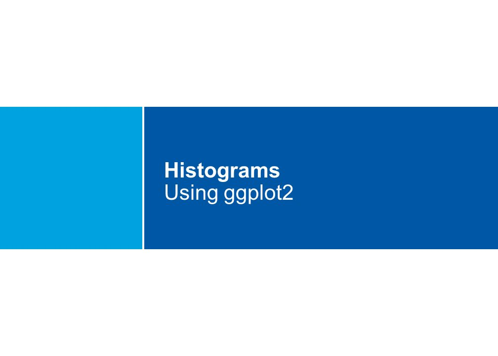 Histograms Using ggplot2