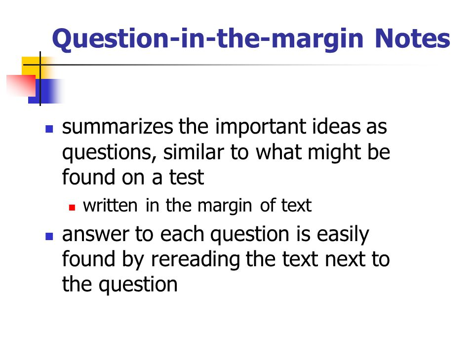 Question-in-the-margin Notes