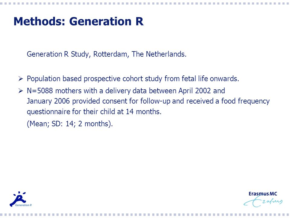 Methods: Generation R Generation R Study, Rotterdam, The Netherlands.