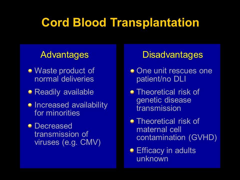 Cord Blood Transplantation