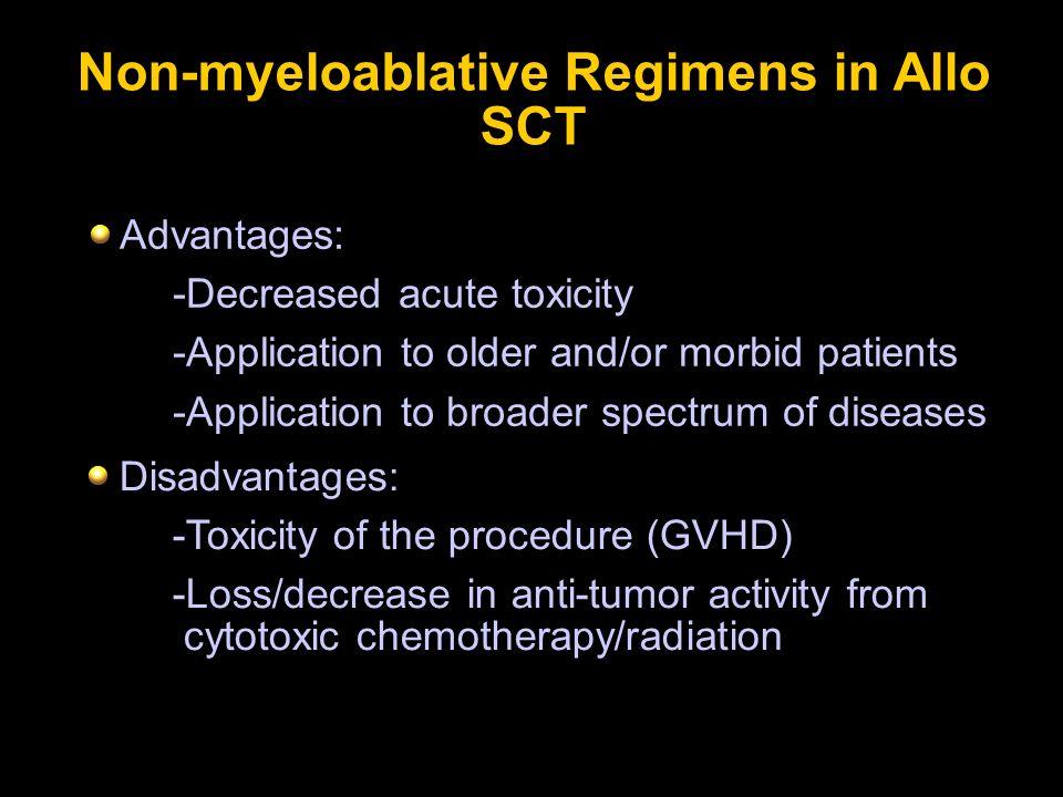 Non-myeloablative Regimens in Allo SCT