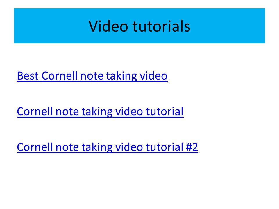 Video tutorials Best Cornell note taking video Cornell note taking video tutorial Cornell note taking video tutorial #2