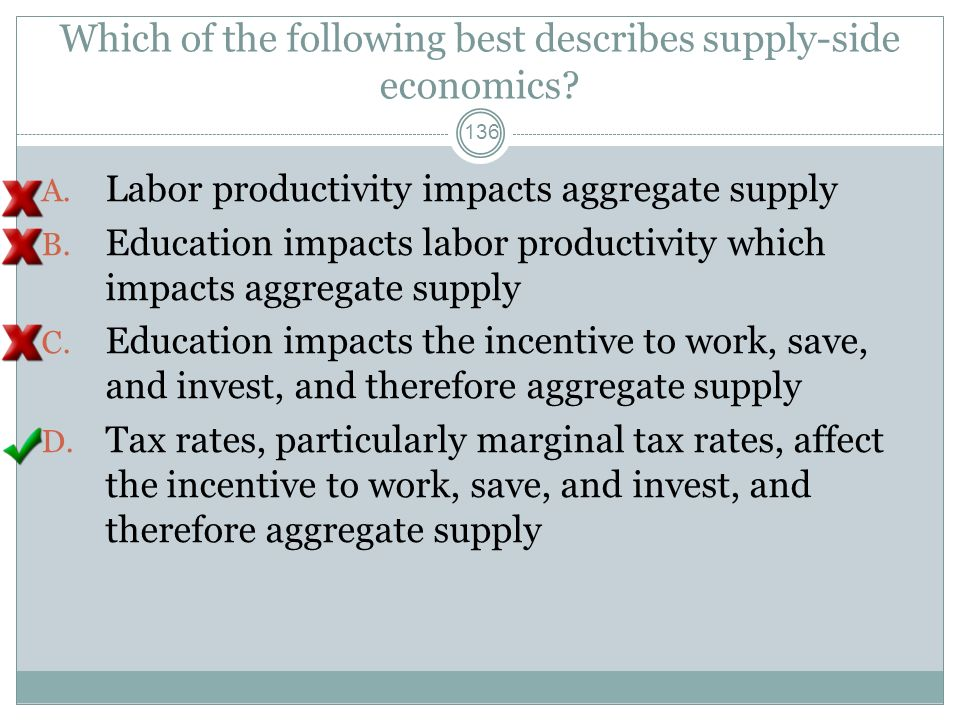 Which of the following best describes supply-side economics